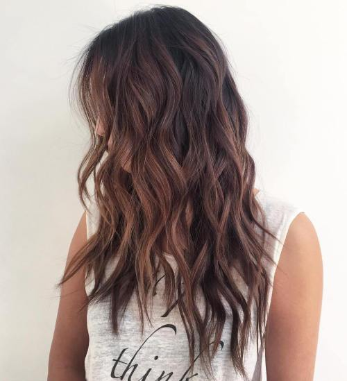 14long Gy Wavy Hairstyle